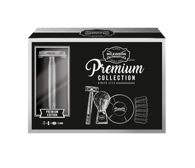 Wilkinson Sword Premium Wet Shave  Gift Set Includes Razor-Soap-Blades-Brush