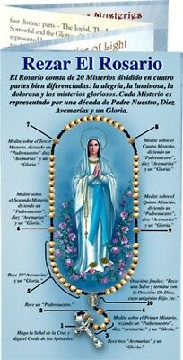 image about How to Pray the Rosary Printable Booklet identified as SPANISH HOW In the direction of Pray Rosary Illustrated Pamphlet W/ Luminous Mysteries Pk of 25