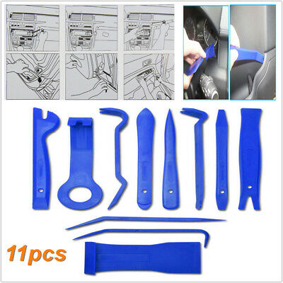 11pcs Trim Removal Tool Kit Auto Car Upholstery Molding Pry Clip Dash Door Panel