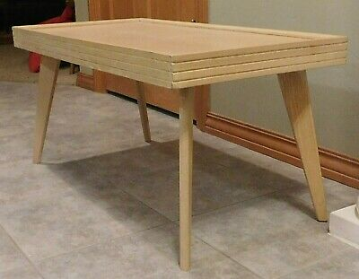 Vintage Mid Century Modern COFFEE TABLE -  RETRO BLONDE FORMICA TOP
