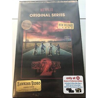 Stranger Things Season 2 Target Blu-Ray + DVD Region Free Set Sealed IN HAND