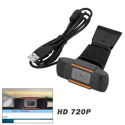 720P HD 12MP Auto USB 2.0 Webcam Camera w/ MIC for Skype PC Android TV 30fps 1pc
