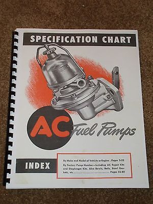AC Fuel Pumps Catalog 1930-1948 Listings,Part #s,Applications,Parts List,MORE...