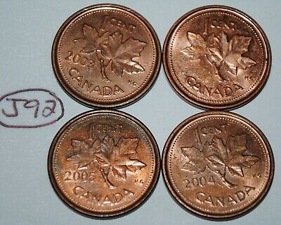 2002 P 2003 P 2004 P 2005 P 1 Cent Canada Steel Canadian Penny Magnetic Lot #J92