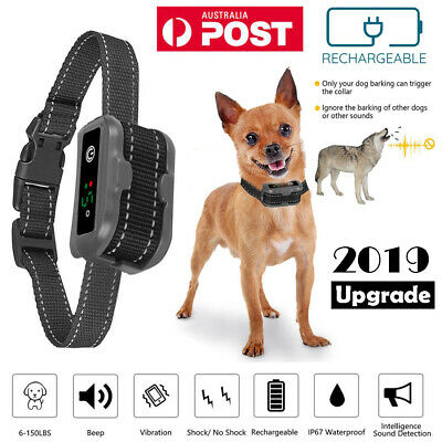 No Bark Collar for All Dog Rechargeable Anti Bark Training Device Stop Barking