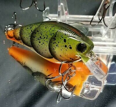Custom painted rattling 1.5 Square bill crank bait bass trout minnow shad CRAW