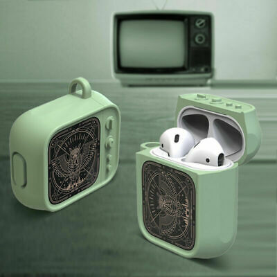 Silicone TV Earphone Case Skins for AirPods 1 2 Headphones Protective Cover