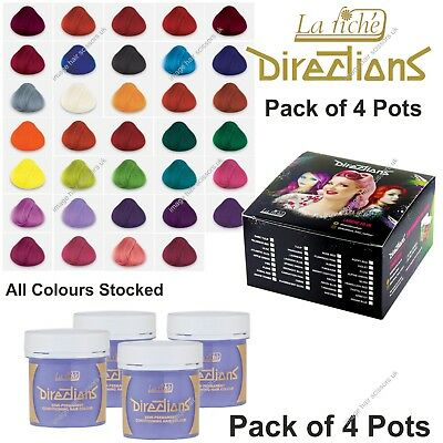 La Riche Directions Hair Colour PACK OF 4 POTS All Colours & Shades Stocked