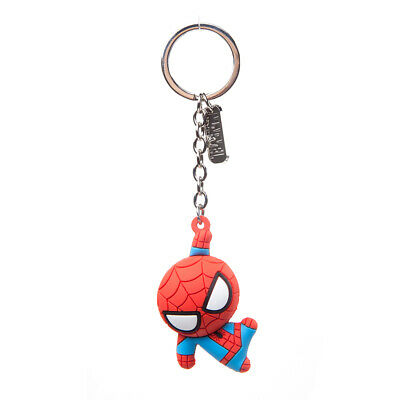MARVEL COMICS Spider-man Character 3D Pendant Rubber Keychain, One Size, Red