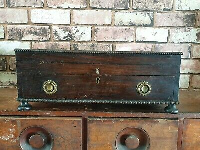 Lovely Antique Wooden Cutlery Box