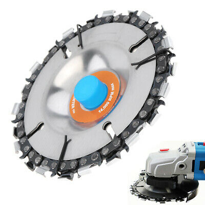 """4"""" Angle Grinder Disc and 22 Tooth Chain Saw Blade For Wood Cutting Chainsaw"""