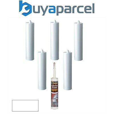 Everbuild External Frame Sealant White C3 Size Cartridge Pack of 6