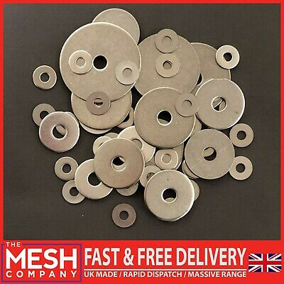 Penny Washers 5mm x 25mm x 1.5mm x50 Repair M5 x 25 Stainless Steel Mudguard