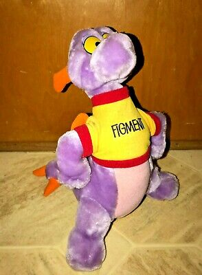 Rare Vintage 1982 Walt Disney World Figment Plush Doll Purple Dragon Epcot 12""