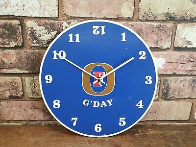 Old Fosters Advertising G'day Pub Battery Operated Wall Clock