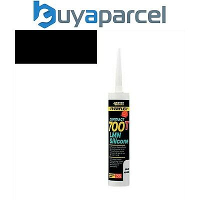 Everbuild Everflex Silicone 700T Black 310ml Size Cartridge