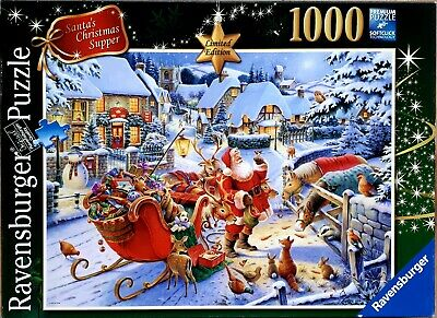 Ravensburger Santas Christmas Supper 1000 piece festive jigsaw puzzle 19171