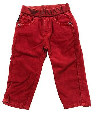 ARMANI Baby Jeans in RED size 12M 12 Month $220 Unisex