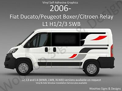 Vinyl Graphics Camper Dayvan Motorhome Fiat Ducato Boxer Relay Conversion