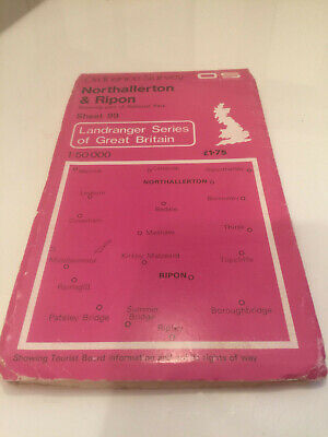 OS 1:50000 Second Series map NORTHALLERTON-RIPON Sheet 99 in very good condition