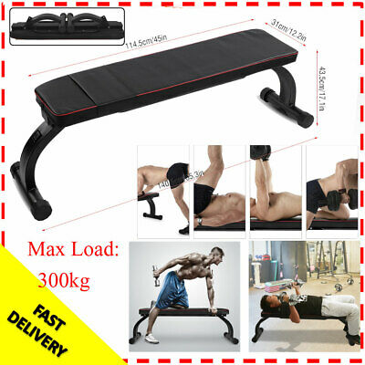 Foldable Flat Gym Weight Bench Press Barbell for Dumbbell Lifting Fitness 300kg