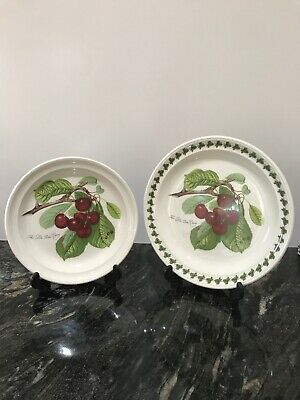 Portmeirion 2 x Cherry Sandwich & Dinner Plates Perfect Condition
