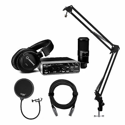 Steinberg UR22mkII Interface with Mic, Headphones, Stand, Pop Filter and XLR