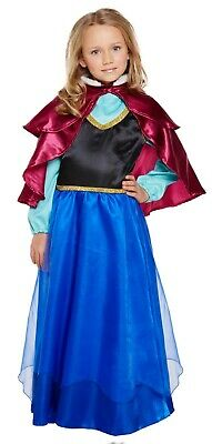 Girls Anna Princess Fancy Dress Up Costume Frozen Outfit Ages 3-9 yrs NEW