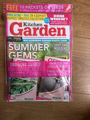 Kitchen Garden July 2019 Magazine Plus 10 Free Packers Of Seeds