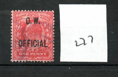 GB - OFFICIALS (277) - Edward V11 -  O W - Office of Works - 1d - used