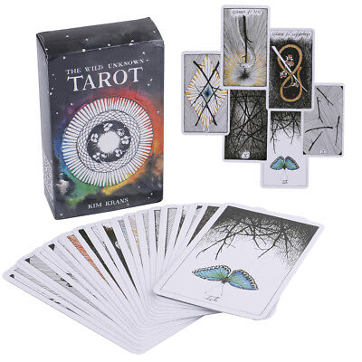 78pcs the Wild Unknown Tarot Deck Rider-Waite Oracle Set Fortune Telling Card`DS