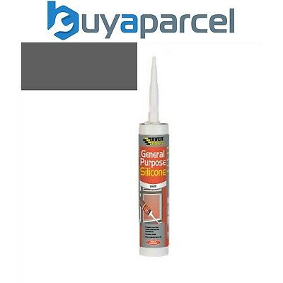 Everbuild General Purpose Silicone Grey C3 Size Cartridge