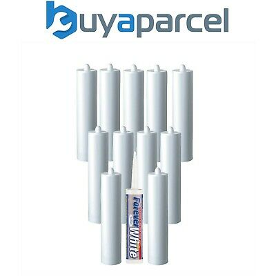 Everbuild Forever White Silicone C3 Size Cartridge Pack of 12