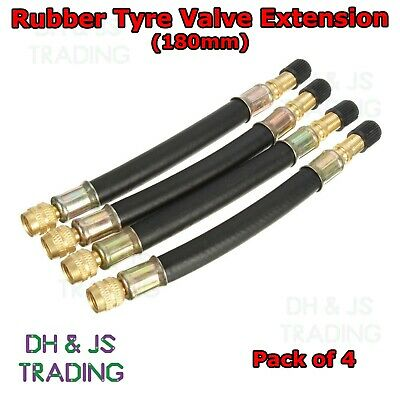 2 X 180MM TYRE VALVE EXTENSIONS TWIN WHEEL AND 2 X CLAMPS BRACKETS LORRY TRUCK