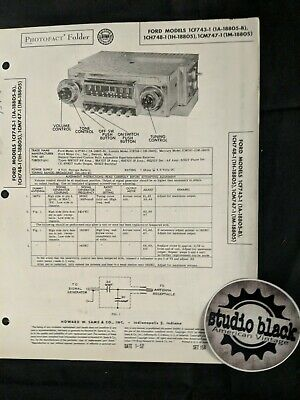 Org PhotoFact Schematic Ford 1CF743-1 1CM747-1  158-5