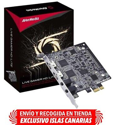 Capturadora de vídeo - Avermedia Live Gamer HD Lite PCI, 1080, HDMI