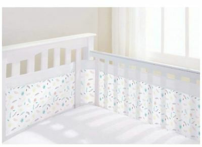 Breathable Baby AIRFLOW 2 SIDED COT LINER - MARABOU Baby Child Infant BN