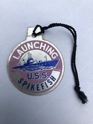 USS SPIKEFISH SS-404 Navel Submarine Ship Launching Portsmouth ME Navy Military