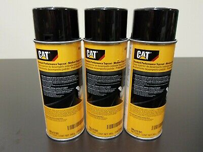 3 Pack - CATERPILLAR CAT OEM Medium Gloss Black Paint, 12oz Aerosol, 458-9585