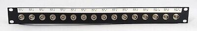 1U 16-way BNC Coax Patch Panel - Rack mount