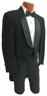 d3bbe117451 Men's Black After Six Tuxedo Tailcoat Full Dress White Tie Wedding Mason 38S