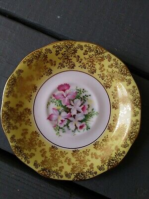 "Saucer – Queen Anne - Queen Anne Fine Bone China - Yellow 6""-LOOK!!!@"