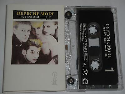 Depeche Mode The Singles 81 to 85  Cassette Tape MUTEL1 Clear Shell Black Label