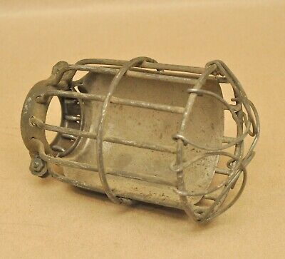 Vintage Wire Cage Drop Light Bulb Cover Industrial Steampunk Safety Cage