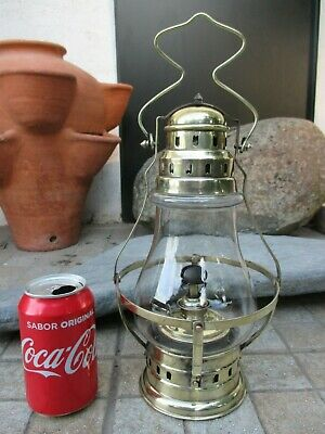 Vintage 1920s Rare French Brass Beautiful Oil Lamp Lantern C R Brevete S.G.D.G.