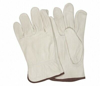 MCR Safety 32113L Industrial Grade Large Cowhide Leather Driver Gloves - 12 Pair