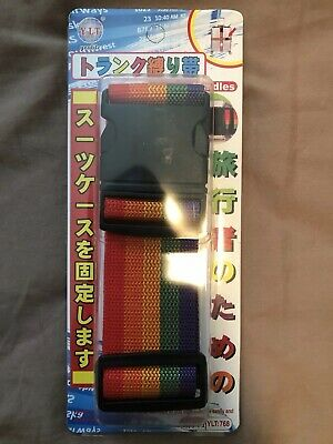 New Travel Luggage Suitcase Strap Baggage Backpack Bag Rainbow Color Belt !
