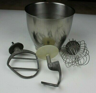 Kenwood 15000 Large Stainless Steel Stand Mixer Bowl With Attachments