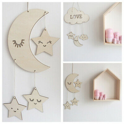 Decor Baby Room Decoration Wooden Wall Hanging Home Ornaments Photography Props