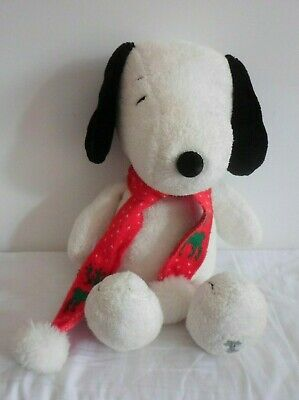 Large Snoopy Christmas Plush Soft Toy With Scarf